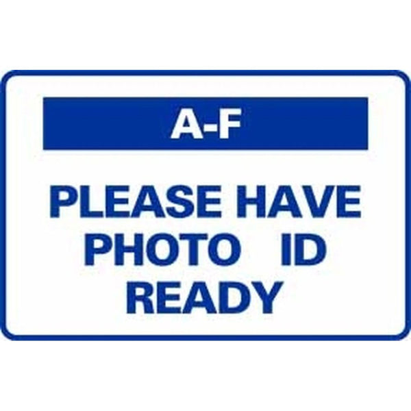A-F PLEASE HAVE PHOTO ID READY SG-318D