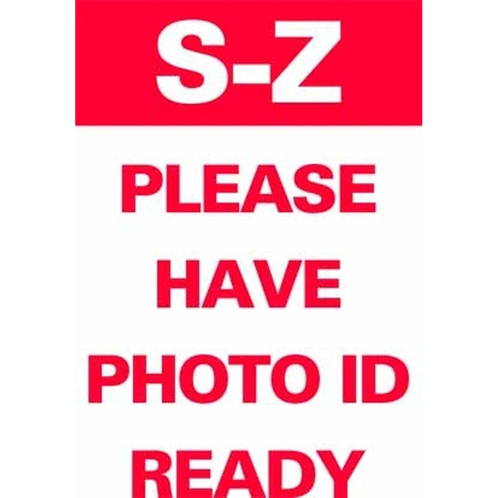 S-Z PLEASE HAVE PHOTO ID READY SG-321B