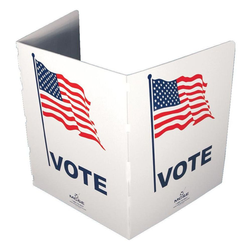 Table Top Voting Booth, Corrugated Plastic