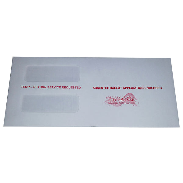 Absentee double window envelope