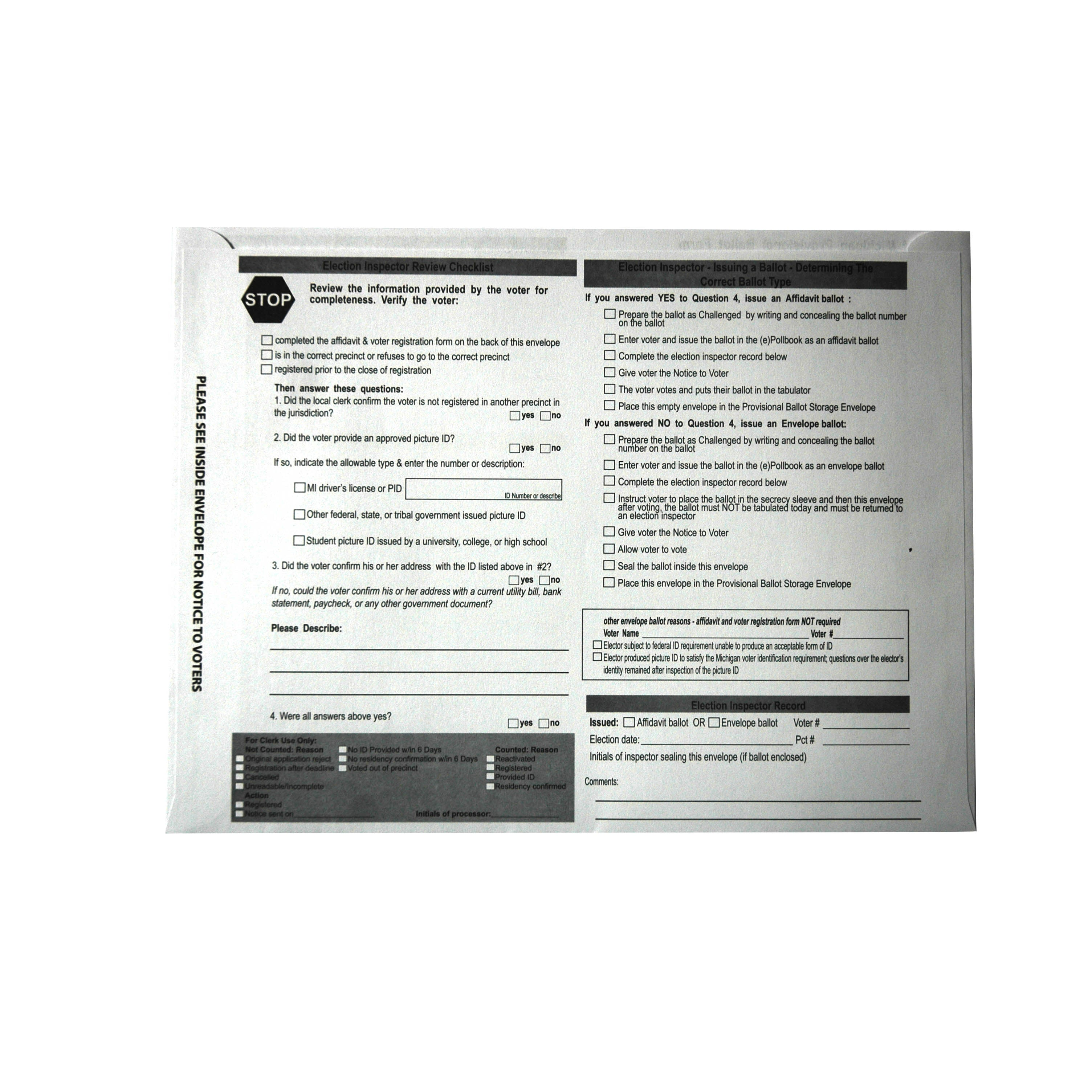 Provisional Ballot Instruction Booklet