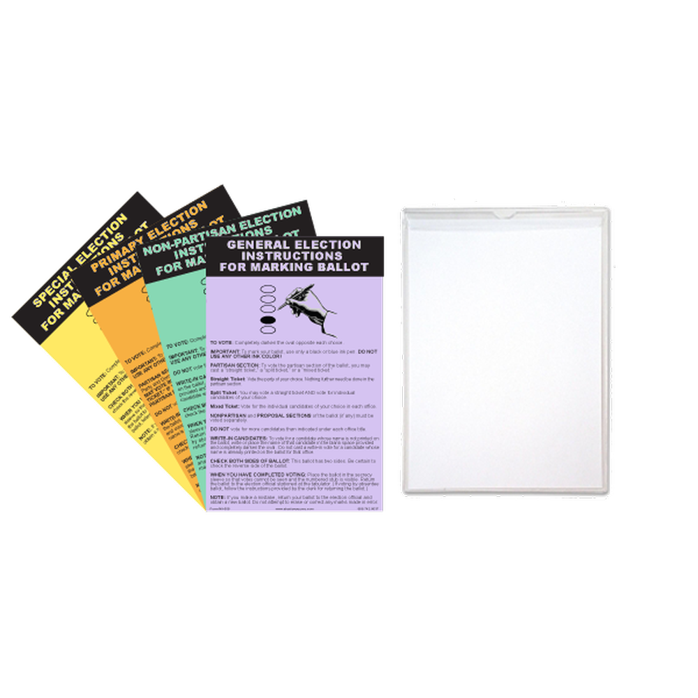 Oval Ballot Marking Instruction Kit - NEW MICHIGAN LAW