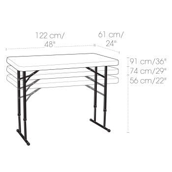 Adjustable Height Folding Precinct Table