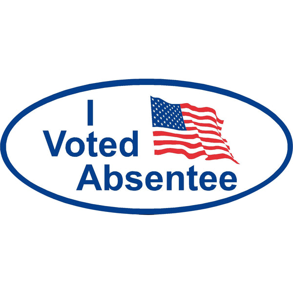 I Voted Absentee Stickers  Item No. PS-115