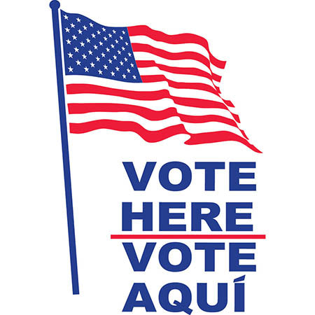Vote Here-Vote Aqui American Flag Two Sided SG-203A2