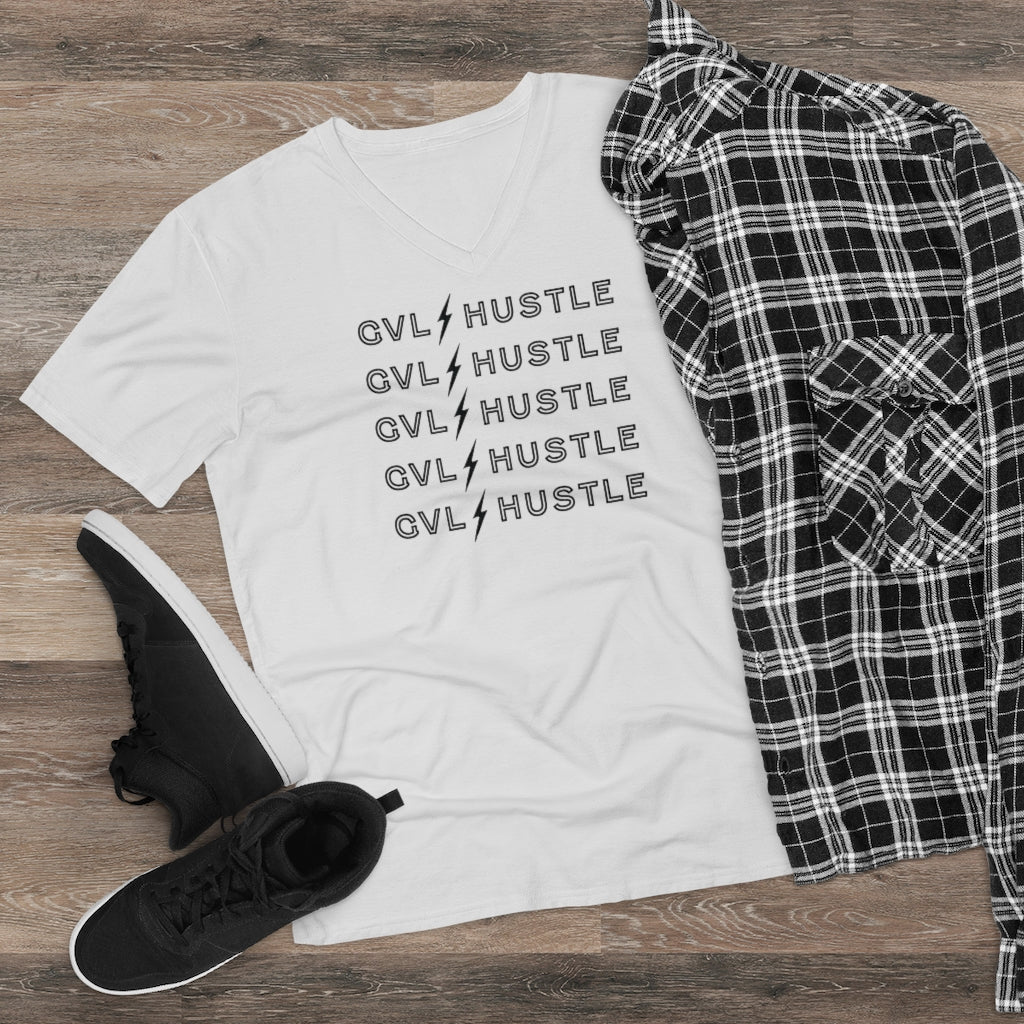 GVL Hustle Bolt Men's Lightweight V-Neck Tee - RyanAlford.com