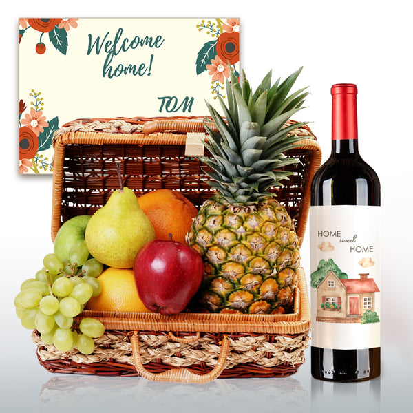 Welcome Home! Premium Fruit Hamper - Design Your Own Wine