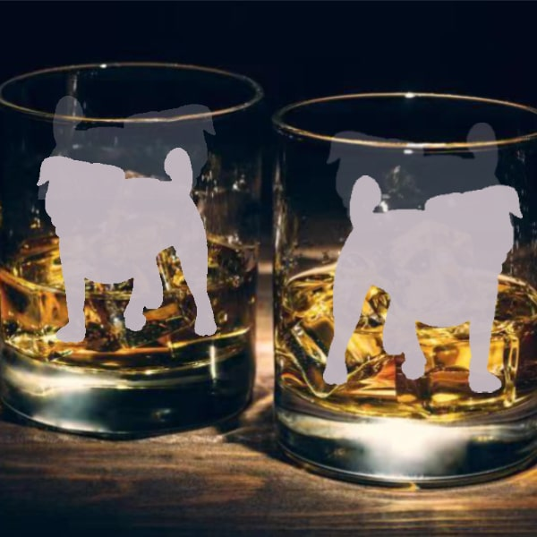 狗狗文字定制威士忌對杯 | Custom Dog Wording Whisky Glasses ( Pair) | Jack Russell Terrier - Design Your Own Wine