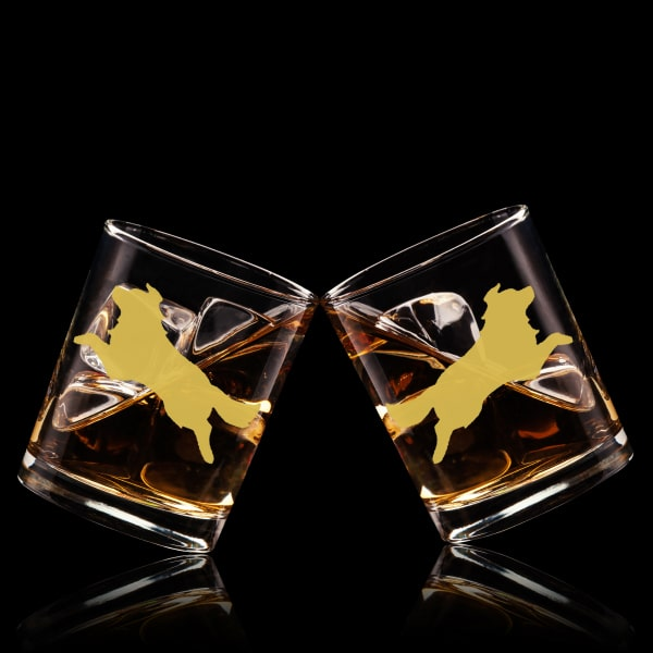 狗狗文字定制威士忌對杯 | Custom Dog Wording Whisky Glasses ( Pair) | Border Collie - Design Your Own Wine