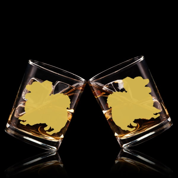 狗狗文字定制威士忌對杯 | Custom Dog Wording Whisky Glasses ( Pair) | Papillon - Design Your Own Wine