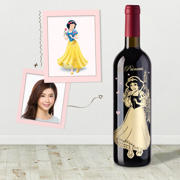 公主人像cos雕刻 |Cos Princess Engraving - Design Your Own Wine