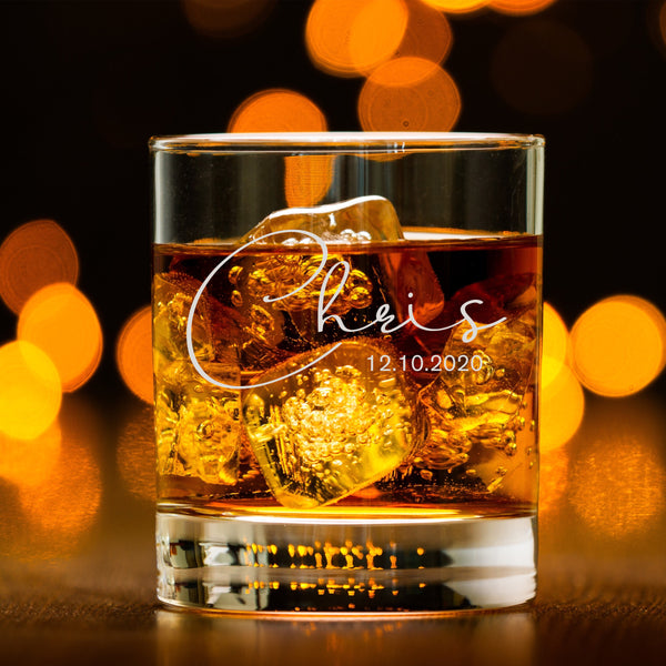 文字定制威士忌對杯 | Custom Wording Whisky Pair Glasses | Signature - Design Your Own Wine
