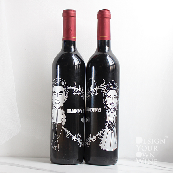 心心相印Chateau Bonnet人像對酒 |Portrait Engraving Chateau Bonnet Pair - Design Your Own Wine