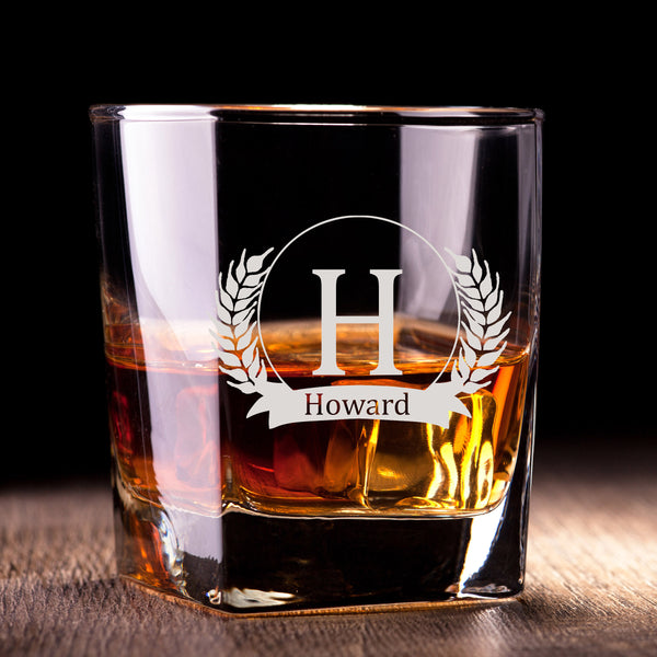 文字定制威士忌對杯 | Custom Wording Whisky Pair Glasses | Leaf - Design Your Own Wine