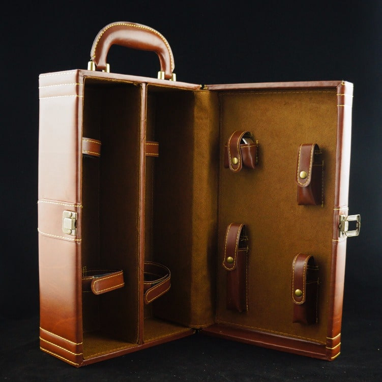 Premium PU Leather Box ( Fit For 2 Bottles of Wine & Champagne) - Design Your Own Wine