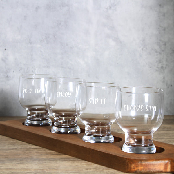 Personalize Beer Glasses Party Set x 4 Glasses - Design Your Own Wine
