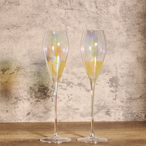 Personalize Rainbow Love Champagne Glasses - Design Your Own Wine