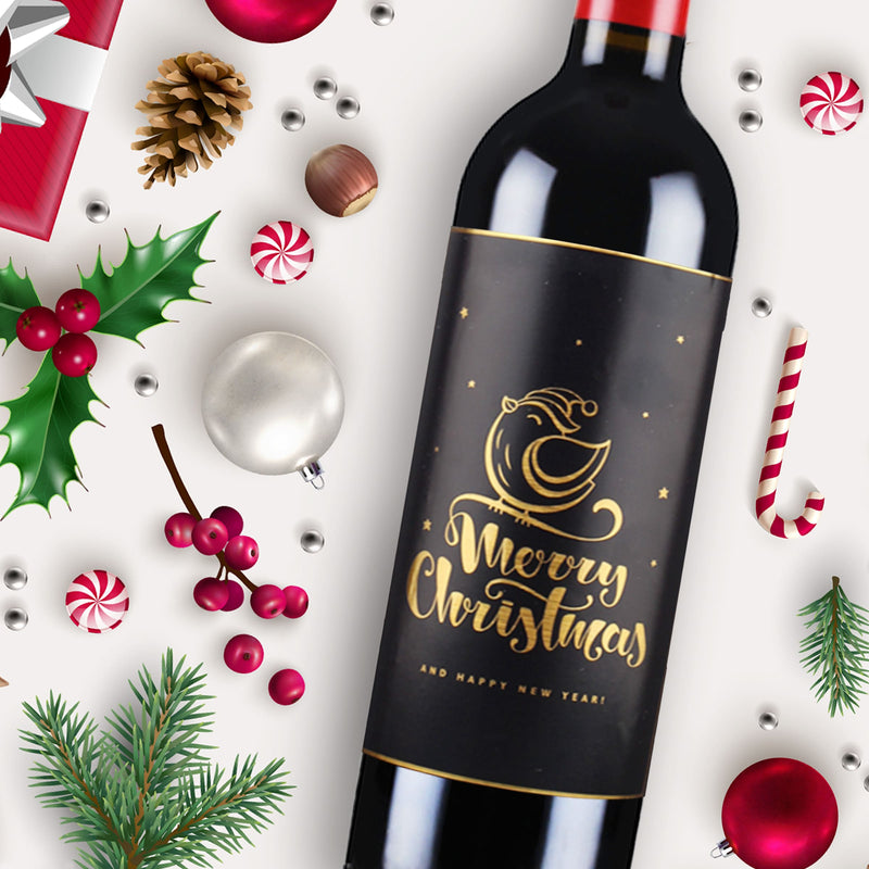 LIMITED EDITION: CUSTOMIZE Christmas Party Set x 6 Bottles of French Fine Wine - Design Your Own Wine