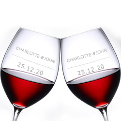 文字定制 Lucaris 紅酒對杯 | Custom Wording Lucaris Wine Pair Glasses | Signature - Design Your Own Wine