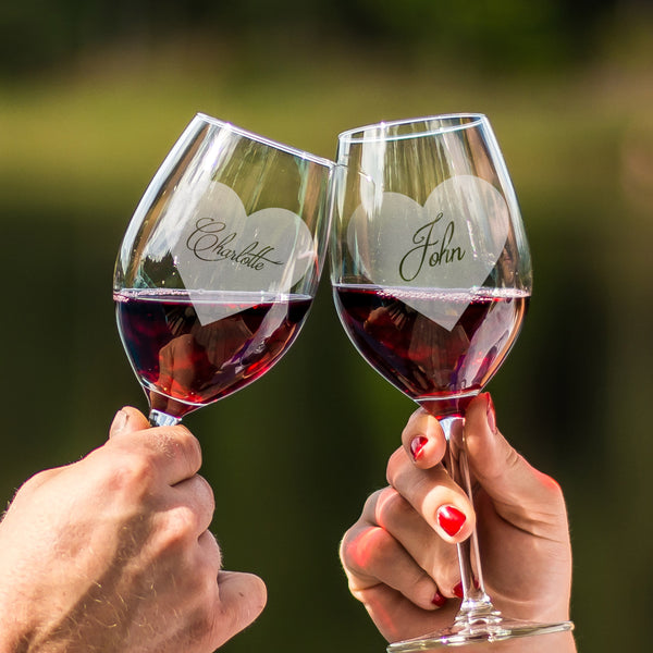 文字定制 Lucaris 紅酒對杯 | Custom Wording Lucaris Wine Pair Glasses | Grand - Design Your Own Wine