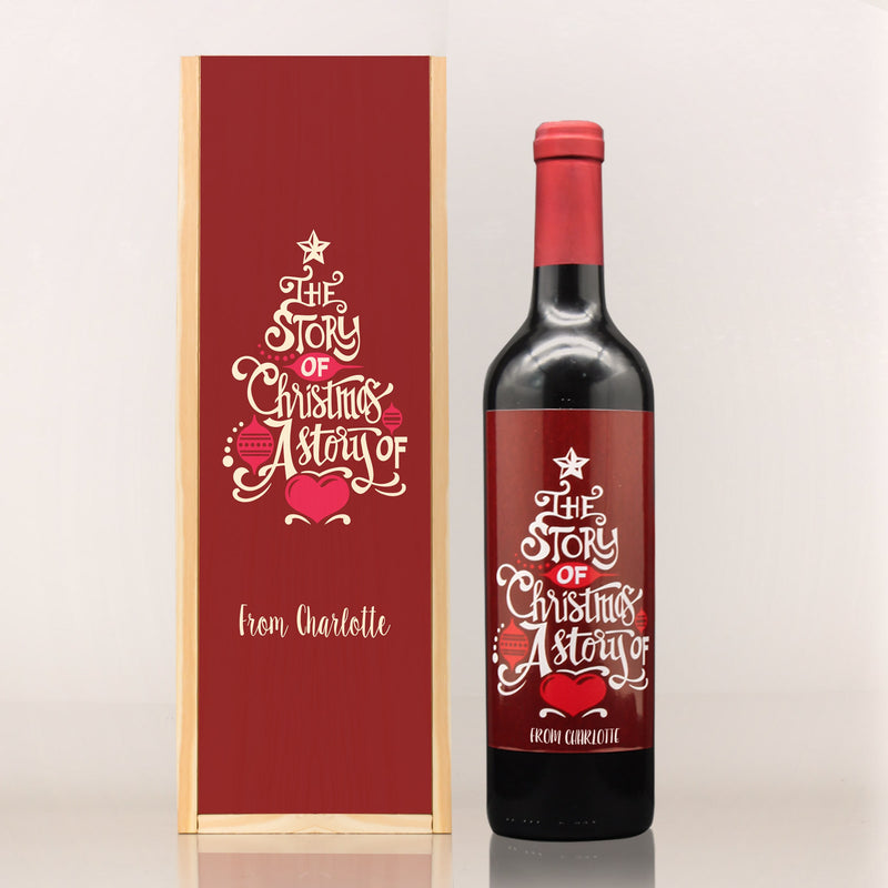 LIMITED EDITION: CUSTOMIZE Christmas French Fine Wine - Design Your Own Wine