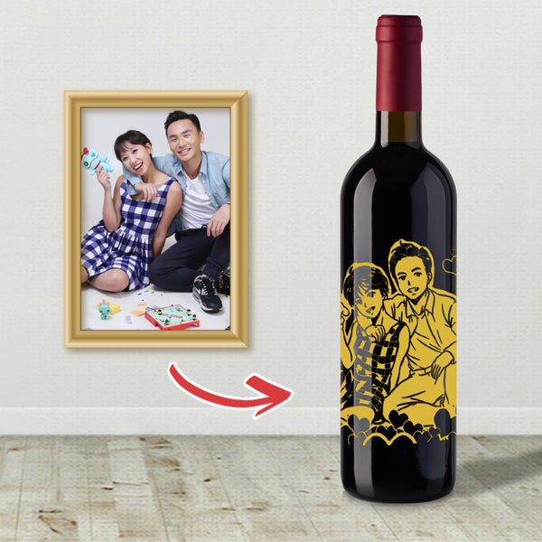 日漫人像雕刻 |Japanese Style Cartoon Engraving - Design Your Own Wine