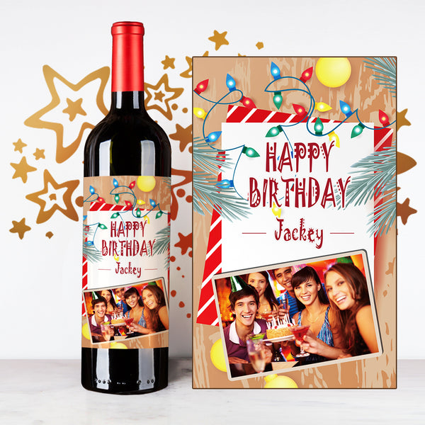 Personalize Friendship Happy Birthday Wine | 生日定制酒 - Design Your Own Wine