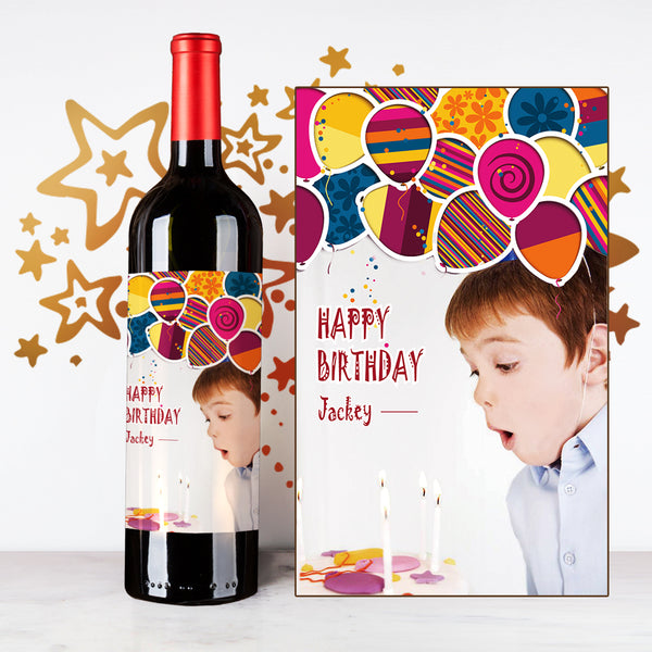 Ballon Happy Birthday Wine | 生日定制酒 - Design Your Own Wine