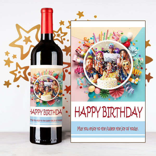 Personalize Star Happy Birthday Wine | 生日定制酒 - Design Your Own Wine