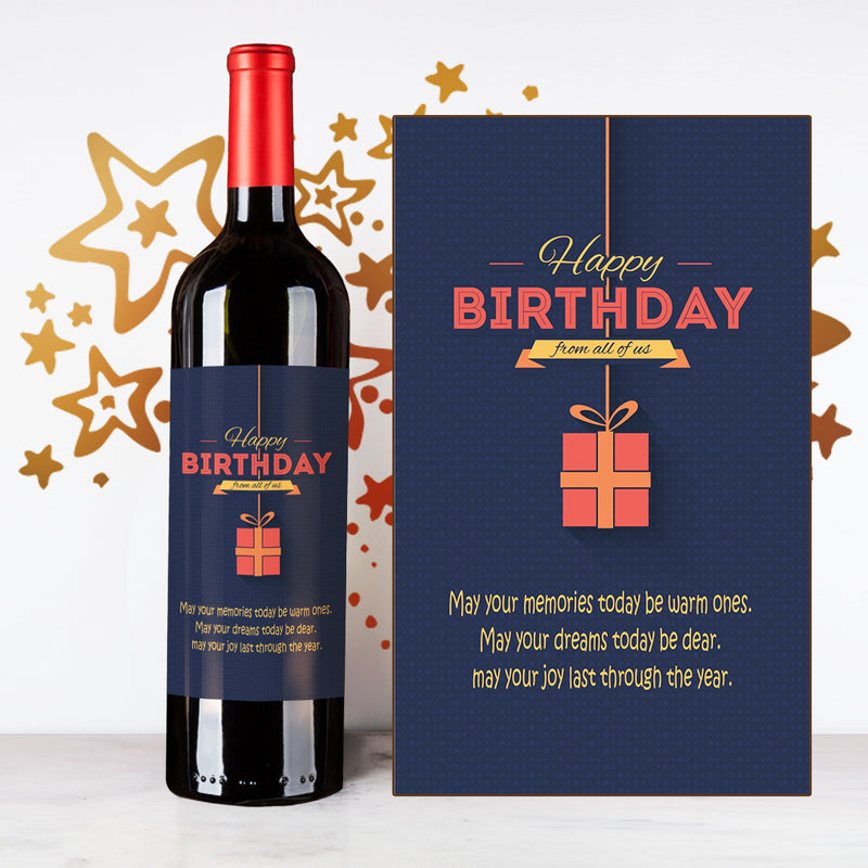 Personalize Gift Happy Birthday Wine | 生日定制酒 - Design Your Own Wine