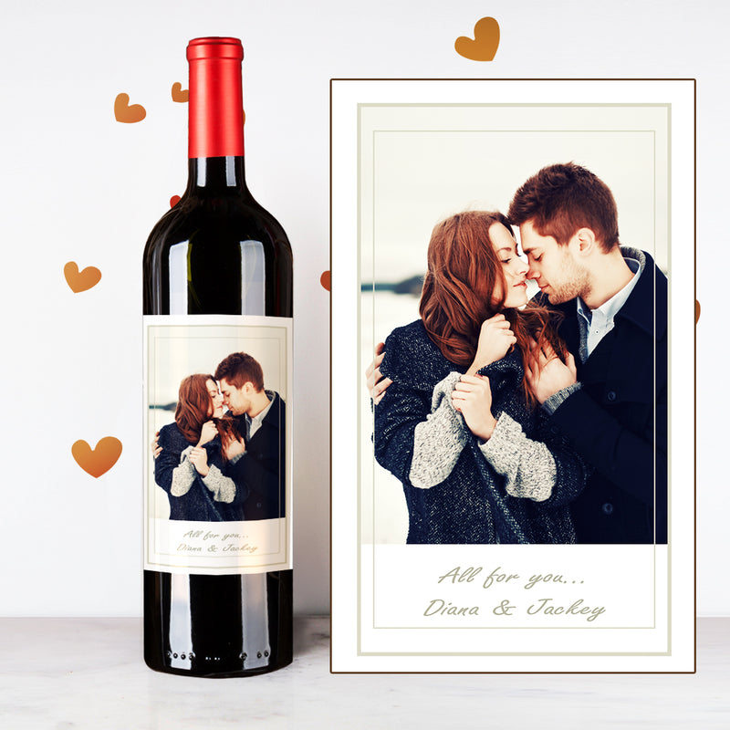 Personalize Snowy Couples Wine | 情侶定制酒 - Design Your Own Wine