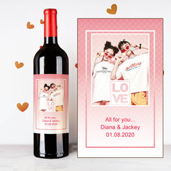 Personalize Pinky Couples Wine | 情侶定制酒 - Design Your Own Wine