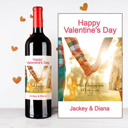 Personalize Holding Hands Couples Wine | 情侶定制酒 - Design Your Own Wine
