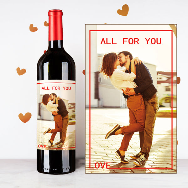 All For You Couples Wine | 情侶定制酒 - Design Your Own Wine