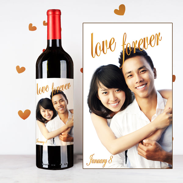 Personalize Love Forever Couples Wine | 情侶定制酒 - Design Your Own Wine