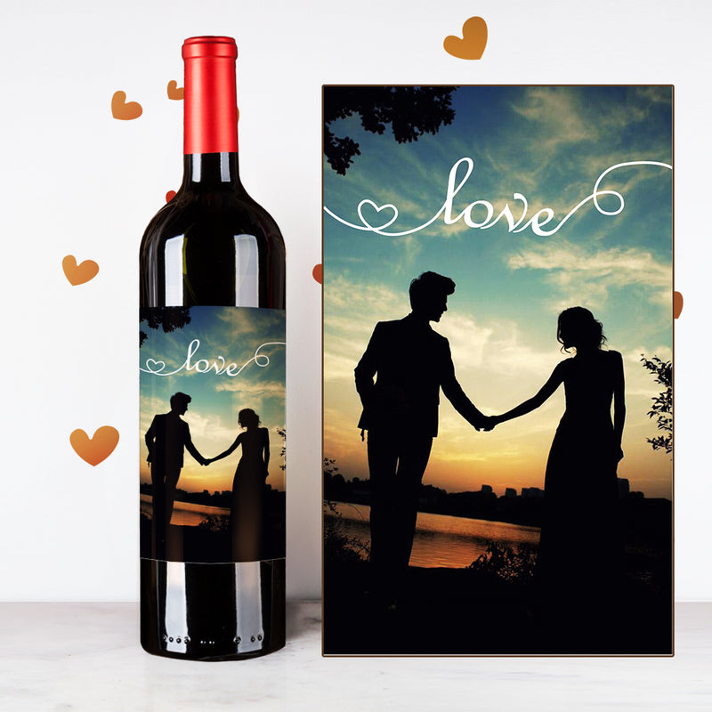 Personalize Love Couples Wine |  情侶定制酒 - Design Your Own Wine