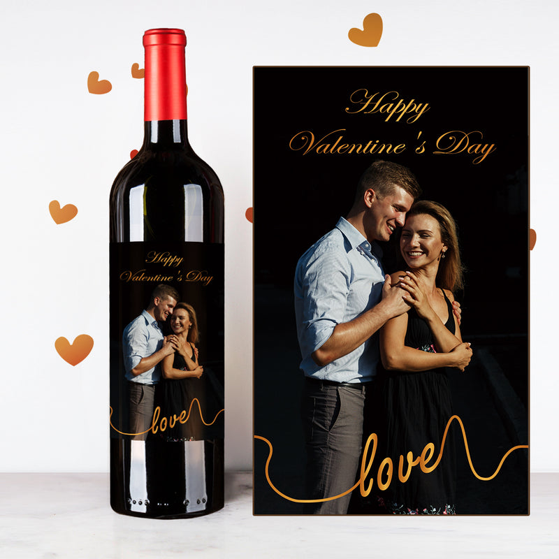 Personalize Dark Valentines Couples Wine | 情侶定制酒 - Design Your Own Wine