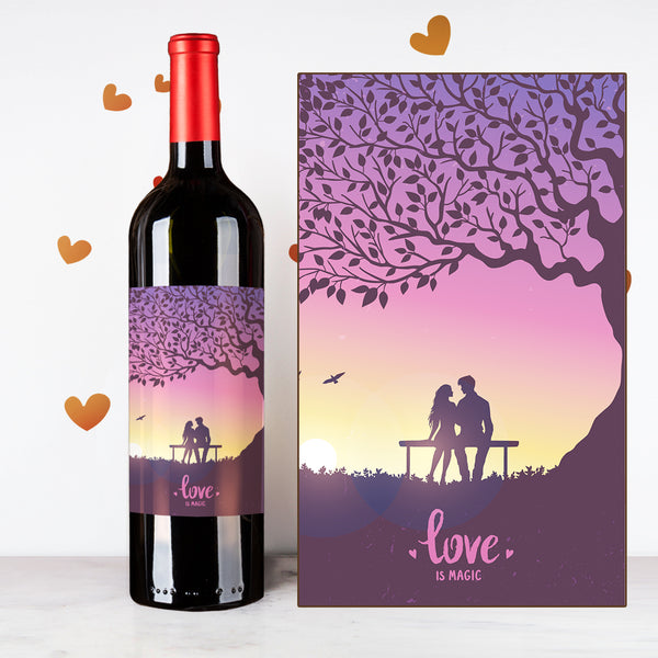 Personalize Purple Tree Couples Wine | 情侶定制酒 - Design Your Own Wine