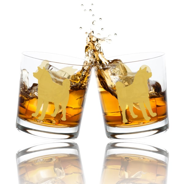 狗狗文字定制威士忌對杯 | Custom Dog Wording Whisky Glasses ( Pair) |  akita-inu-dog - Design Your Own Wine