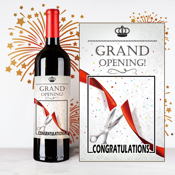 Beautiful Grand Opening Wine | Customize Name Wine Label | 開張定制酒 - Design Your Own Wine