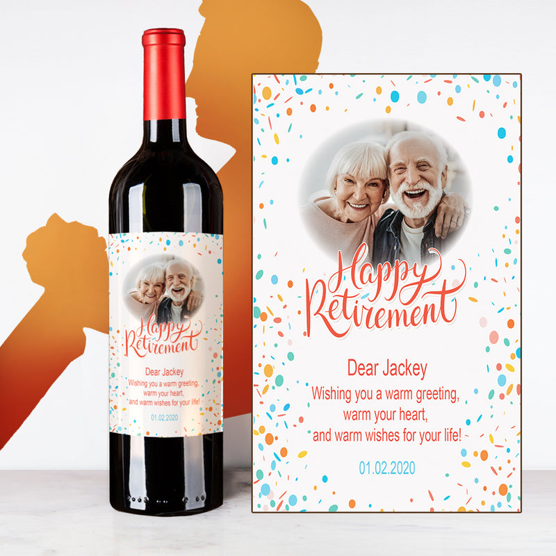 Personalize Dotty Retirement Wine | 退休定制酒 - Design Your Own Wine
