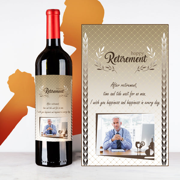 Personalize Silver Retirement Wine | 退休定制酒 - Design Your Own Wine