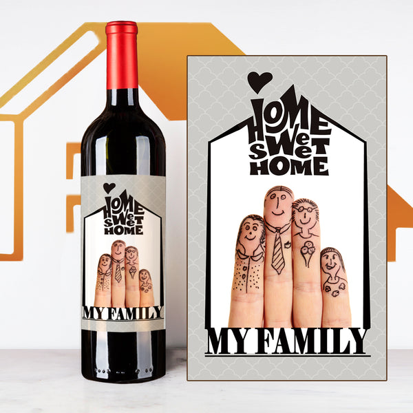 Personalize Fingers House Warming Wine  | 慶祝新居定制酒 - Design Your Own Wine