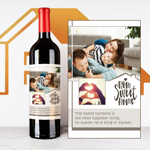 Brown House Warming | Customize Name Wine Label | 慶祝新居定制酒 - Design Your Own Wine