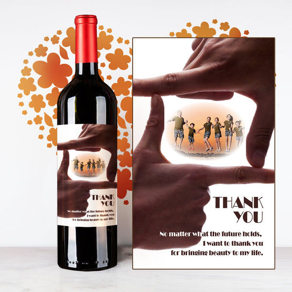 Personalize Hand in Hand Thank You Wine | 多謝定制酒 - Design Your Own Wine