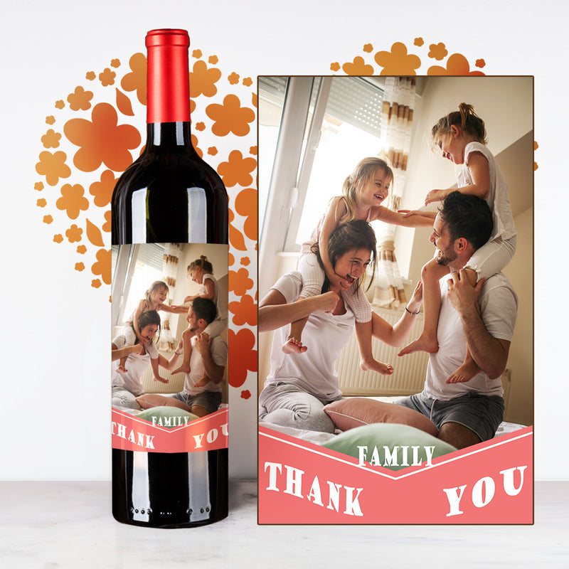 Personalize Pink Thank You Wine | 多謝定制酒 - Design Your Own Wine