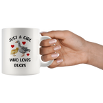 Load image into Gallery viewer, Duck Mug, Just A Girl Who Loves Ducks