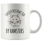 Load image into Gallery viewer, Hamster Mug, Easily Distracted by Hamsters