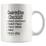 Load image into Gallery viewer, Quarantine Checklist Mug - Wine and More Wine