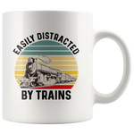 Load image into Gallery viewer, Train Mug, Easily Distracted By Trains